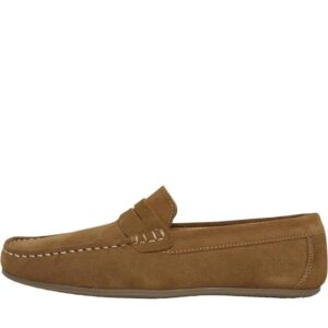 Onfire Mens Suede Penny Loafer Shoes