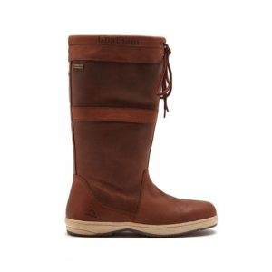 CHATHAM- BROWN LEATHER LADIES SAILING BOOTS