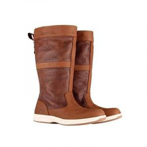 CHATHAM- BROWN LEATHER MEN SAILING BOOTS